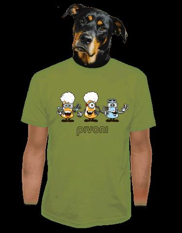 Pivoni zelené pánske tričko