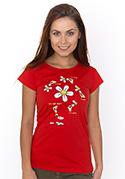 náhled - Má ma rád červené dámske tričko