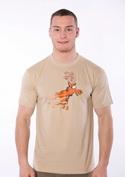 náhled - Stierací los hnedé pánske tričko