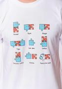 náhled - Puzzlesútra biele pánske tričko