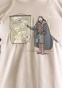 náhled - Winter is Coming hnedé pánske tričko