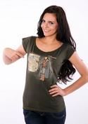 náhled - Winter is Coming zelené dámske tričko