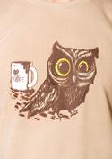 náhled - Sova na kofeínu pánske tričko