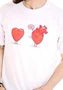 náhled - Srdcová záležitosť biele pánske tričko