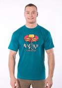 náhled - Červotoč modré pánske tričko