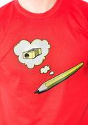 náhled - Ceruzka červené pánske tričko
