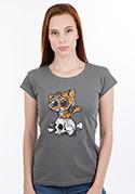 náhled - Tigrík šedé dámske tričko