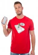 náhled - Wrong Apple červené pánske tričko