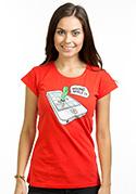náhled - Wrong Apple červené dámske tričko