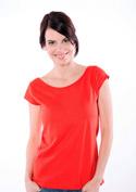 náhled - Dámske tričko lodičkové červené