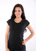 náhled - Dámske tričko raglánové čierne