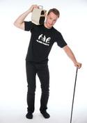 náhled - Oldies party čierne pánske tričko