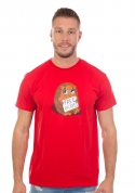 náhled - Objatie zadarmo červené pánske tričko