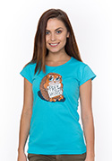 náhled - Objatie zadarmo modré dámske tričko