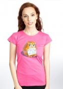 náhled - Objatie zadarmo fuchsiové dámske tričko