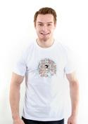 náhled - Nejdem s davom biele pánske tričko