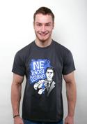 náhled - Radši osobně tmavo šedé pánske tričko