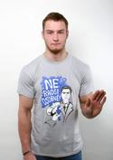 náhled - Radši osobně svetlo šedé pánske tričko