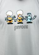náhled - Pivoni šedé pánske tričko
