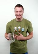 náhled - Pivoni zelené pánske tričko