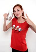 náhled - Pivoni červené dámske tričko