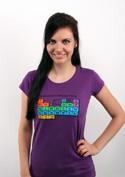 náhled - Periodická tabuľka fialové dámske tričko