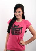 náhled - Povinná četba fuchsiové dámske tričko