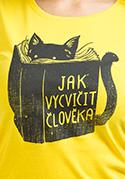 náhled - Povinná četba žlté dámske tričko