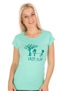 náhled - Fair play zelené dámske tričko