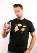 náhled - Opité zemiaky čierne pánske tričko