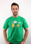 náhled - Opité zemiaky zelené pánske tričko