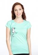 náhled - Myšiak zelené dámske tričko