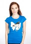 náhled - Zúbková víla modré dámske tričko