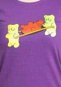 náhled - Gumkáči fialové dámske tričko
