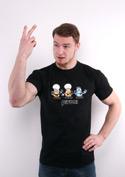 náhled - Pivoni čierne pánske tričko