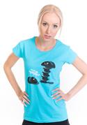 náhled - Vytočený modré dámske tričko