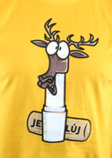 náhled - Jelení lůj žlté pánske tričko