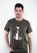 náhled - Jelení lůj zelené pánske tričko