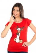 náhled - Jelení lůj červené dámske tričko