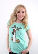 náhled - Jelení lůj zelené dámske tričko