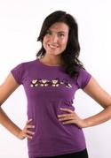 náhled - Opica fialové dámske tričko