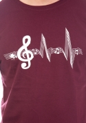 náhled - Žijem muzikou vínové pánske tričko