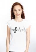 náhled - Žijem muzikou dámske tričko