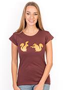 náhled - Veveričky dámske tričko
