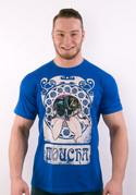 náhled - Moucha kráľovsky modré pánske tričko