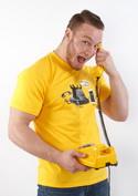 náhled - Telefon v důchodu žlté pánske tričko