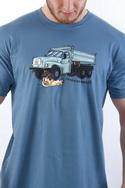 náhled - Tatrická masáž modré pánske tričko
