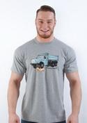 náhled - Tatrická masáž šedé pánske tričko