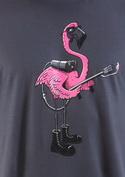 náhled - Plameniak šedé pánske tričko