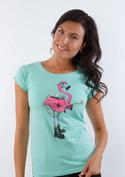 náhled - Plameniak dámske tričko